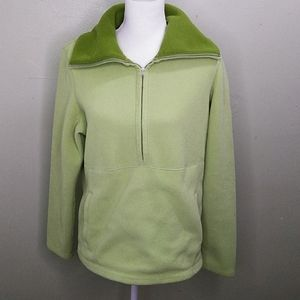 Ann Taylor Loft Convertible Collar Fleece Top L